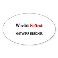 World's Hottest Knitwear Designer Oval Sticker