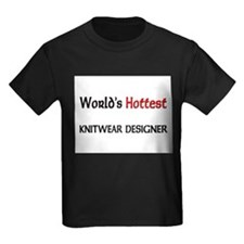 World's Hottest Knitwear Designer Kids Dark T-Shir