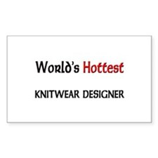 World's Hottest Knitwear Designer Sticker (Rectang