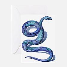 Blue Snake Greeting Card
