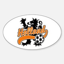 Holland Soccer Oval Decal