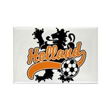 Holland Soccer Rectangle Magnet