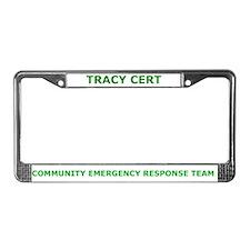 Tracy CERT License Plate Frame