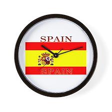 Spain Spanish Flag Wall Clock