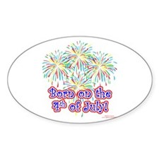 Born on the 4th of July Decal