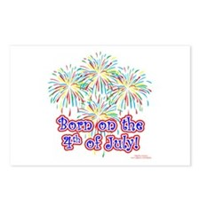 Born on the 4th of July Postcards (Package of 8)
