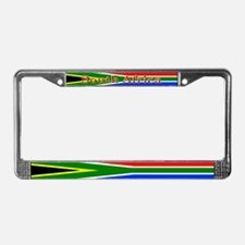 South Africa South African Flag License Plate Fram
