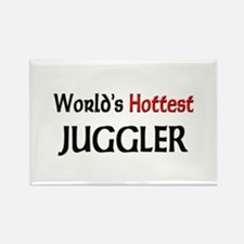 World's Hottest Juggler Rectangle Magnet