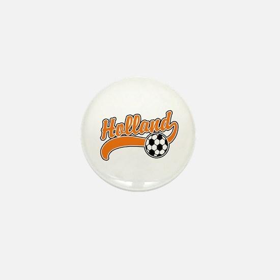 Holland Soccer Mini Button