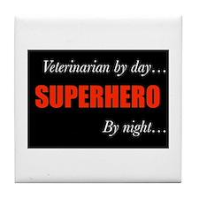 Superhero Veterinarian Tile Coaster