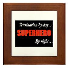 Superhero Veterinarian Framed Tile