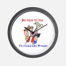 Be Nice to Me Child Care Wall Clock