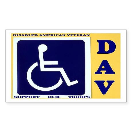 Disabled Vets Sticker (Rectangle 10 pk)