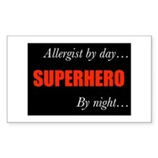 Superhero Allergist Gift Rectangle Decal
