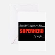 Superhero Anesthesiologist Greeting Cards (Pk of 2