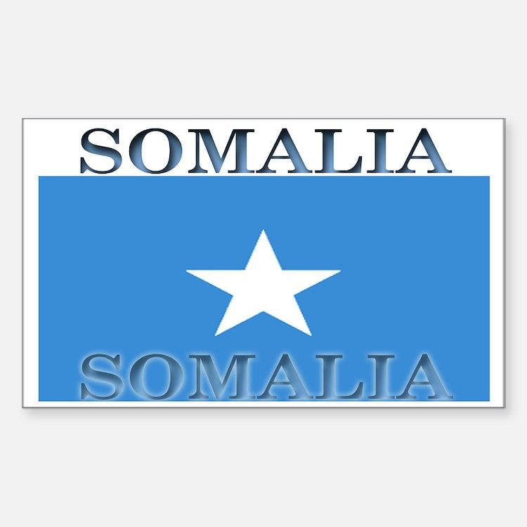 Somalia Somali Flag Rectangle Decal
