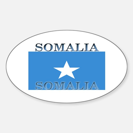 Somalia Somali Flag Oval Decal