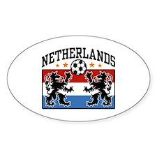 Netherlands Soccer Oval Decal