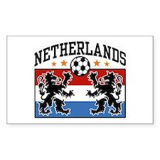 Netherlands Soccer Rectangle Decal