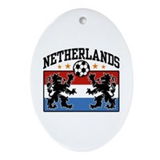 Netherlands Soccer Oval Ornament