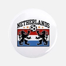 "Netherlands Soccer 3.5"" Button"