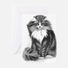 Beautiful Blue Eyed Cat Greeting Cards (Package of