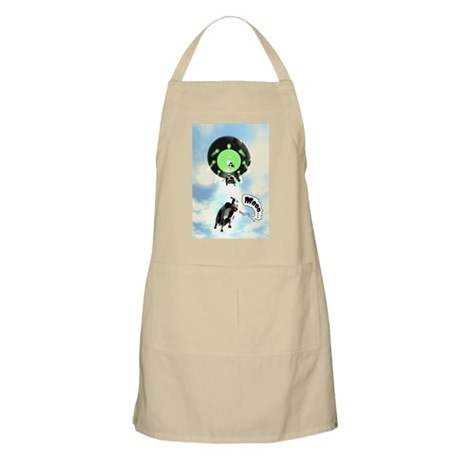 Comical Cow Abduction BBQ Apron