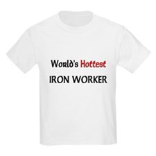 World's Hottest Iron Worker Kids Light T-Shirt