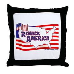 Redneck America Throw Pillow