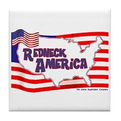 Redneck America Tile Coaster