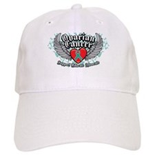 Ovarian Cancer Wings Baseball Cap