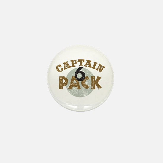 Captain 6 Pack Military Humor Mini Button