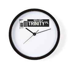 Trinity Place in NY Wall Clock