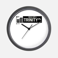 Trinity Place in NY Wall Clock