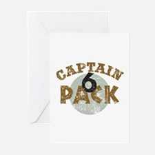 Captain 6 Pack Military Humor Greeting Cards (Pk o