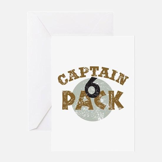 Captain 6 Pack Military Humor Greeting Card