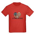 Americana Heart Kids Dark T-Shirt
