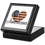 Americana Heart Keepsake Box