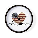 Americana Heart Wall Clock