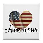 Americana Heart Tile Coaster