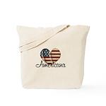 Americana Heart Tote Bag