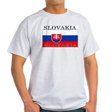 Slovakia Slovak Flag Ash Grey T-Shirt
