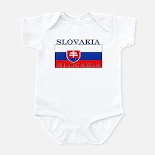 Slovakia Slovak Flag Infant Bodysuit