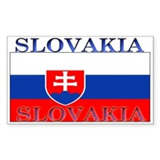 Slovakia Slovak Flag Rectangle Decal