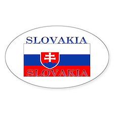 Slovakia Slovak Flag Oval Decal