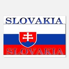 Slovakia Slovak Flag Postcards (Package of 8)