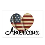 Americana Heart Postcards (Package of 8)