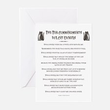 The 10 Commandments for Cat O Greeting Cards (Pack