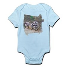 4 Meerkats Peering Infant Bodysuit