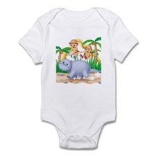 Safari Hippo Infant Bodysuit